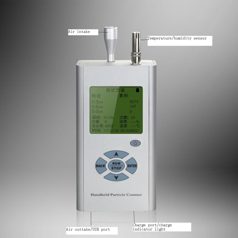 3-Channel Handheld particle counter