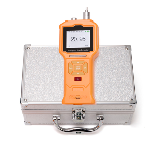Portable H2S gas detector with pump-sunction sampling
